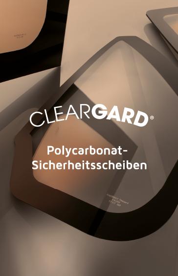 Entdecken Sie Cleargard, das führende Produktprogramm von Polycarbonat- Sicherheitsscheiben.