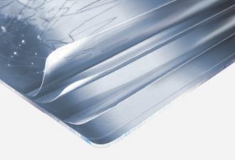 Cleargard Polycarbonat-Verglasung mit Mehrschichtschutzfolie.