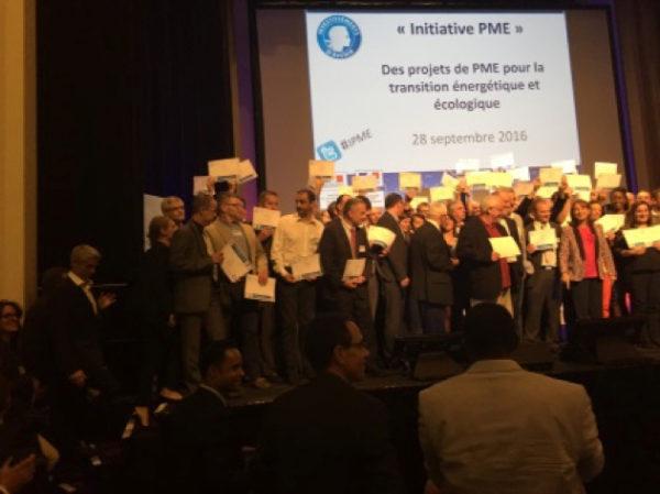 Plastrance bei der Preisverleihung des Zukunftsinvestitionsprogramms der ADEME im Jahr 2016.