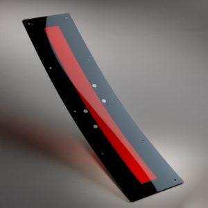 Straßenbahn- Scheinwerferglas aus Polycarbonat (PC)