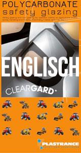 Technische Dokumentation von Cleargard herunterladen, der Sicherheitsverglasung für Traktoren, Land-, Bau- und Forstmaschinen.