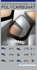 Technische Unterlagen von Cleargard herunterladen, der Sicherheitsverglasung für die Fahrzeuge der Sicherheitskräfte.